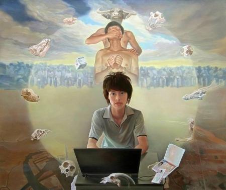 Nguyễn Đình Đăng Ngày trưởng thành (2008) sơn dầu trên canvas, 162 x 194 cm