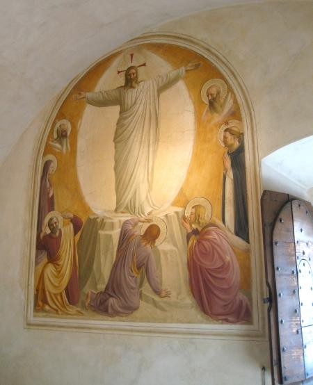 Fra Angelico Biến hình bích họa trên tường một phòng nguyện tại tu viện San Marco