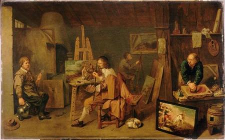 David-Ryckaert-III-Schildersatelier-1638