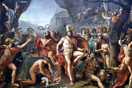 Léonidas_aux_Thermopyles_(Jacques-Louis_David)
