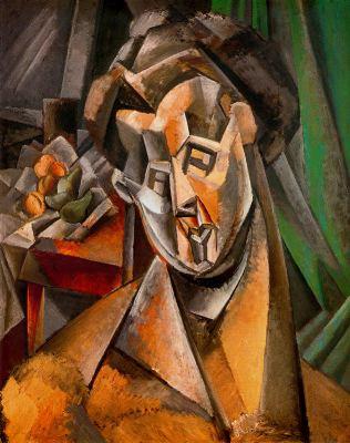 Pablo Picasso Người đàn bà với các quả lê (1909) sơn dầu trên canvas, 92.1 x 70.8 cm