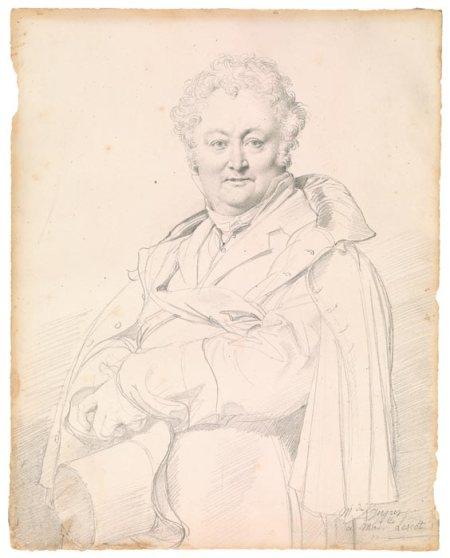 Jean-Auguste Dominique Ingres (1780 - 1876) Chân dung Guillaume Guillon-Lethière (1815) chì than trên giấy