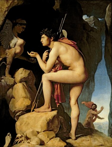 Jean-Auguste Dominque Ingres Oedipus và con Nhân sư (1808/1827) sơn dầu trên vải, 189 x 144 cm