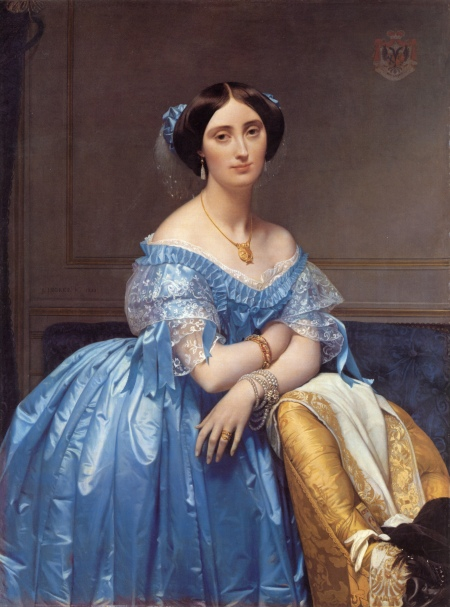 Jean-Auguste Dominique Ingres Chân dung công chúa Albert de Borglie (1853) sơn dầu trên canvas, 121.3 x 90.8 cm