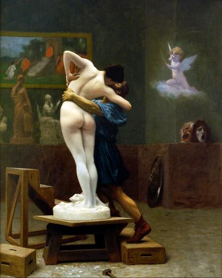 Jean-Léon Gérôme (1824 – 1904) Pygmalion and Galatea (kh 1890) sơn dầu trên canvas, 88.9 x 68.6 cm