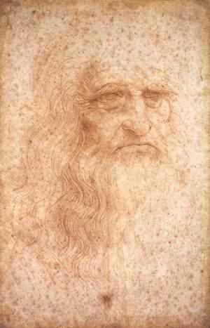 Leonardo Da Vinci Tự hoạ (1512) phấn đỏ trên giấy, 33.3 x 21.6 cm