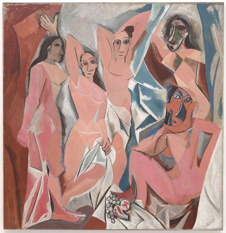 Pablo Picasso Các cô nàng Avignon (1907) sơn dầu trên canvas, 243.9 x 233.7 cm