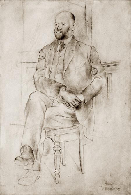 Pablo Picasso Chân dung Ambroise Vollard (1915) chì than trên giấy, 46.7 x 32.1 cm