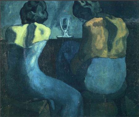 Pablo Picasso Hai phụ nữ ngồi trong quán bar (1902) sơn dầu trên canvas, 80 x 91.5 cm