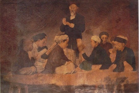 Bức Bình Văn (được cho là do Lê Văn Miến vẽ kh. 1898 - 1905)