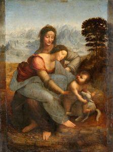 Leonardo da Vinci Đức Mẹ và Thánh Anne (1508) sơn dầu trên ván gỗ, 168 x 112 cm (trước khi tẩy rửa)
