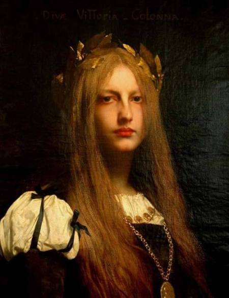 Jules-Joseph Lefèbvre (1836 - 1911) Diva Vittoria Colonna (1861) sơn dầu trên canvas