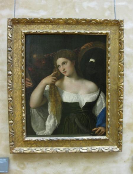 Titian Người phụ nữ soi gương (1515) sơn dầu trên canvas, 99 x 76 cm