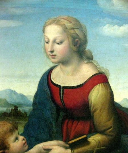Raphael La Belle Jardinière (trích đoạn) sơn dầu trên ván gỗ, 122 x 80 cm