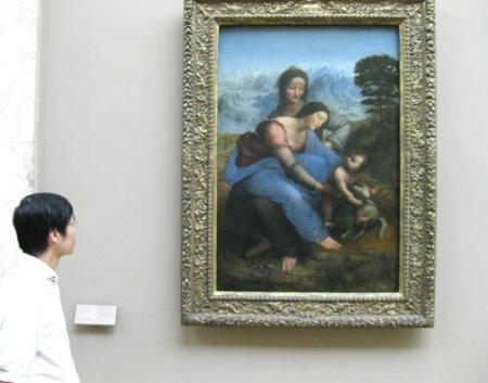 Bức Đức Mẹ và Thánh Anne cũa Leonardo sau khi được (bị) tẩy rửa