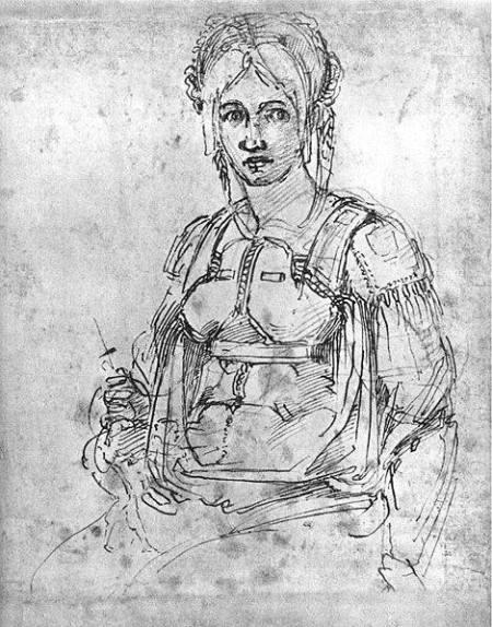 Michelangelo Chân dung Vittoria Colonna kh. 1540