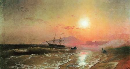 Ivan Aivazovsky Đảo Ischia (1892) sơn dầu trên canvas