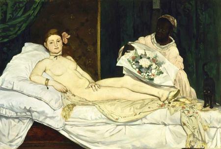 Édouard Manet Olympia (1863) sơn dầu trên canvas, 130.5 x 190 cm