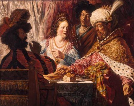 Jan Lievens Bữa tiệc của Esther (1625) sơn dầu trên canvas, 134.6 x 165.1 cm