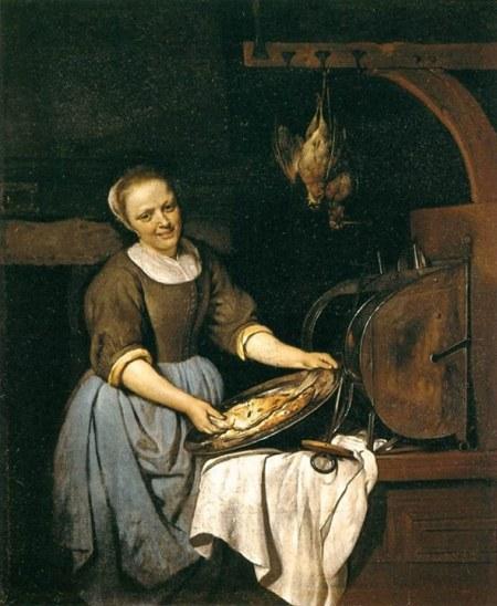 Gabriel Metsu Đầu bếp (kh. 1657) sơn dầu trên canvas, 40 x 33 cm