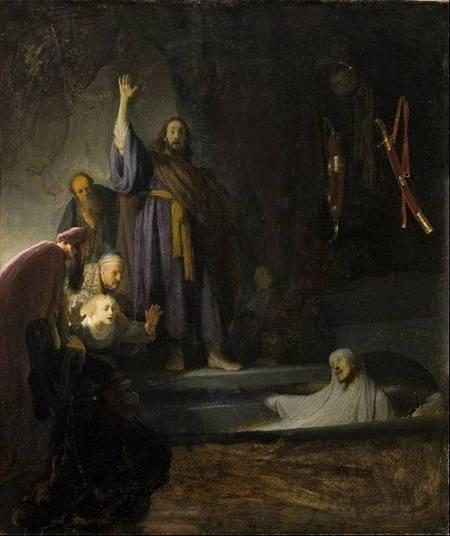 Rembrandt Phục sinh Lazarus (kh. 1632) sơn dầu trên canvas, 93.36 x 81.28 cm