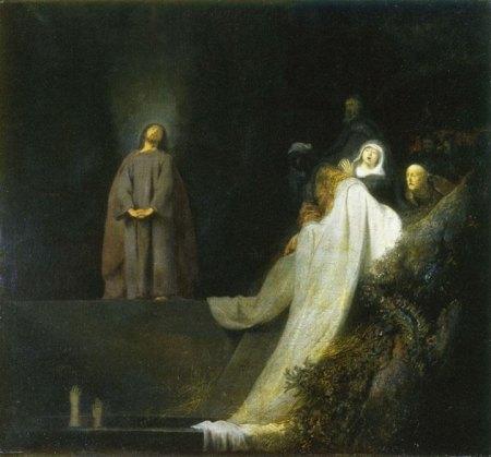 Jan Lievens Phục sinh Lazarus (1631) sơn dầu trên canvas, 103 x 112 cm