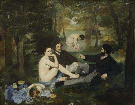 Édouard Manet Bữa sáng trên bãi cỏ (1862 - 1863) sơn dầu trên canvas, 208 x 265.5 cm