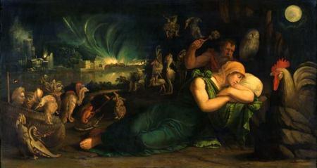 Battista Dossi Đêm (Giấc mơ) (1543 - 1544) sơn dầu trên canvas