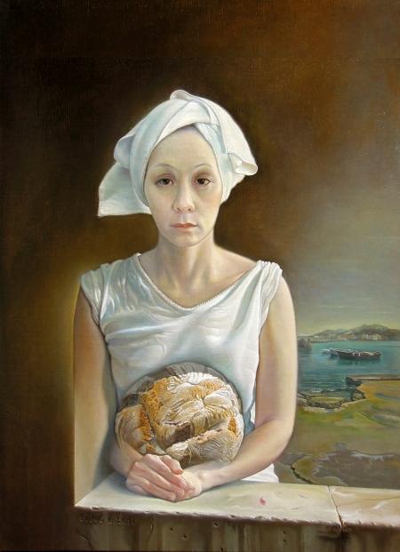 Nguyễn Đình Đăng Thánh thể (2014) sơn dầu trên canvas, 72.7 x 53 cm