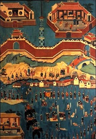 Bức hoạ 4 Cuộc tử vì đạo của cha François Xavier Nguyễn Cần ở Kẻ Chợ (tức Hà Nội) ngày 26.11.1837 167.5 x 119.6 cm