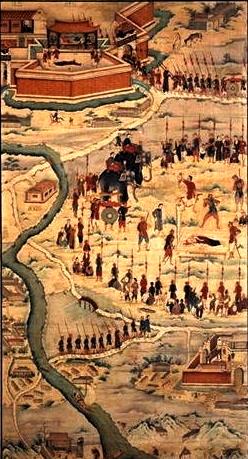 Bức hoạ 12 Cuộc tử vì đạo của cha Pierre Phạm Khanh tại Hà Tĩnh ngày 12.07.1842 167 x 95.2 cm