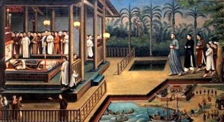 Bức hoạ 14 Bức hoạ cuộc tử vì đạo của cha Jean-Louis Bonnard Hương tại Vĩnh Trị ngày 1.05.1852 107 x 178.9 cm (được cho là do ông phó Thư người làng Vĩnh Trị vẽ [4])