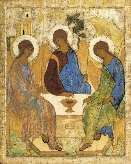Andrei Rublev Ba ngôi một thể (kh. 1410) icon, Bào tàng Tretyakov