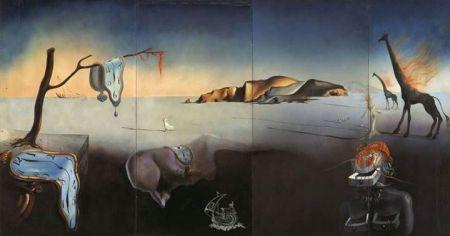 Salvador Dalí, Giấc mơ của Vệ Nữ (1939), 240 x 480 cm, sơn dầu trên canvas dán trên 4 ván masonite 240 x 120 cm / tấm