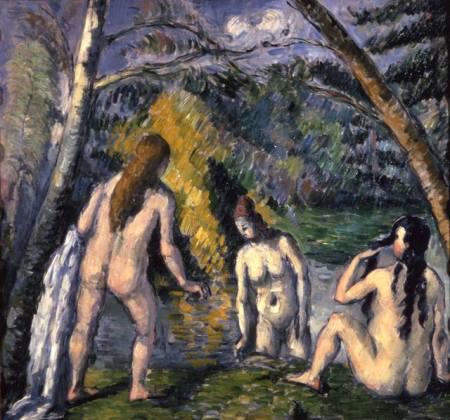 Paul Cézanne Ba phụ nữ tắm (1879 - 1892) sơn dầu, 52 x 55 cm
