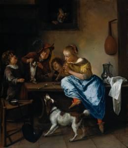 Jan Steen, Buổi học khiêu vũ (1660 - 1679), sơn dầu