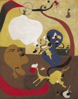 Joan Miro, Nội thất Hà Lan III (1928), sơn dầu