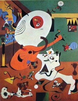 Joan Miro, Nội thất Hà Lan I (1928), sơn dầu