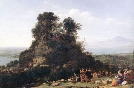 Claude Lorrain, Bài thuyết pháp trên núi (1656), sơn dầu