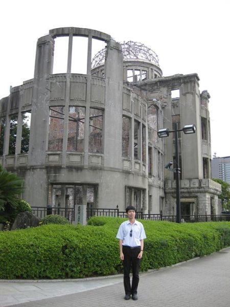 Tòa nhà Trung tâm Hỗ trợ Công nghệ Hiroshima bị bom nguyên tử phá sập
