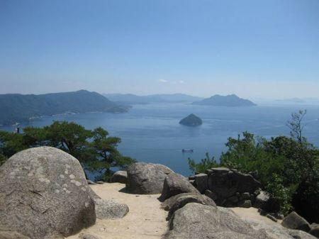 Vịnh Hiroshima nhìn từ đài quan sát Shishiiwa