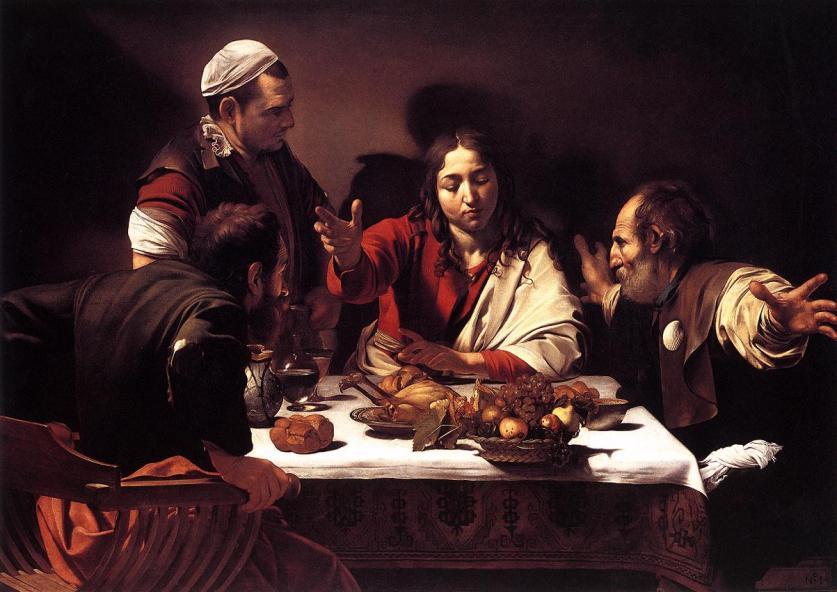 Caravaggio Bữa tối tại Emmau (1606) sơn dầu, 141 x 196.2 cm