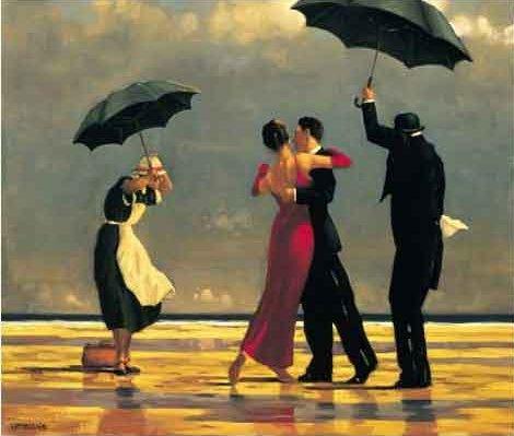 ack Vettriano, Người quản gia hát (1992), 71 x 91 cm, sơn dầu
