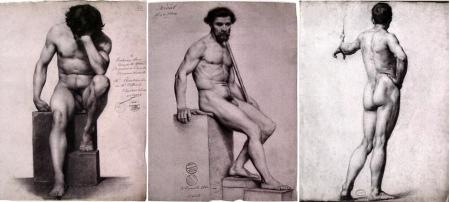 Hình hoạ khỏa thân của học sinh trường Mỹ thuật Paris cuối t.k. XIX