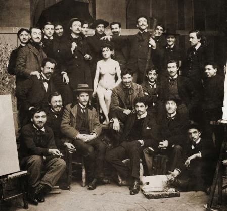 (Có thể là) xưởng hoạ của Jean-Léon Gérôme tại trường Mỹ thuật Paris