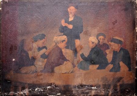 Khuyết danh Bình văn (tên do BTMT đặt) (kh. 1898 – 1905) sơn dầu, 68 x 97 cm (Ảnh Vũ Huy Thông)