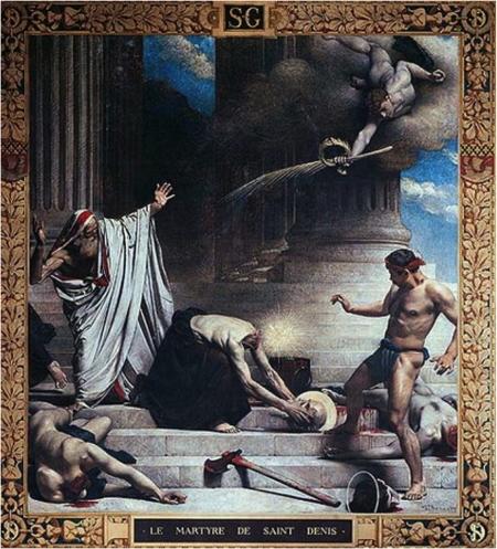 Léon Bonnat Cuộc tử vì đạo của thánh Denis (kh. 1880) bích họa tại Panthéon, Paris