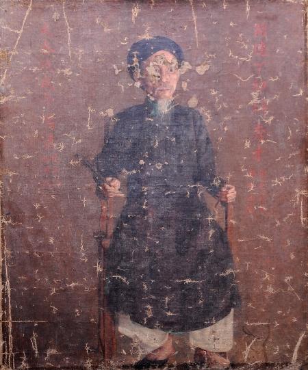Lê Văn Miến Chân dung cụ Tú Mền (1898) sơn dầu trên canvas, 60 x 45 cm (Ảnh: Vũ Huy Thông)