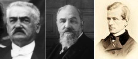 Từ trái: Eugène Étienne, Léon Bourgeois, và Henri Delaborde