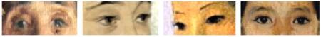 Từ trái: Đôi mắt trong tranh của Lê Văn Miến, Lê Phổ, Tô Ngọc Vân và Trần Văn Cẩn